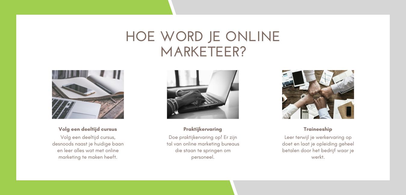 hoe word je online marketeer?